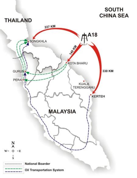 Peta rangkaian hidrokarbon Semenanjung Malaysia