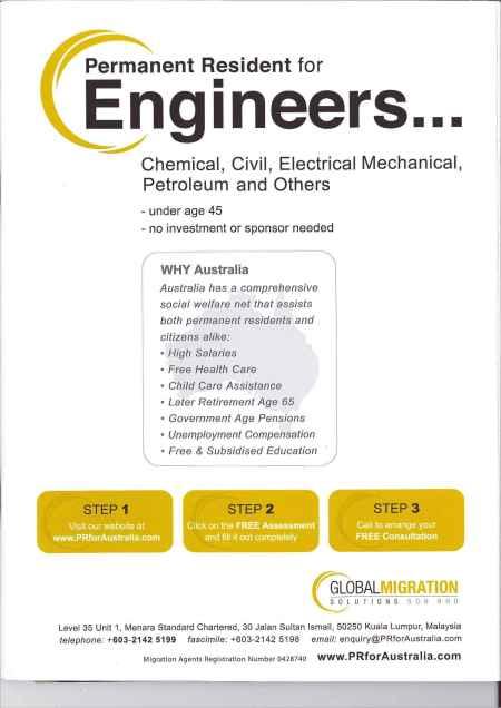 Ad - Engineers Move to Australia