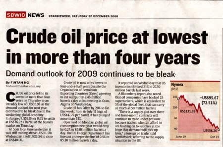The Star Malaysia Article - Crude Oil Prices