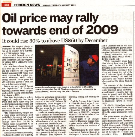 The Star - Oil Price Rally?